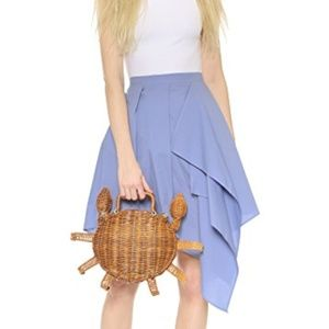 NEW Kate Spade SPLASH OUT Wicker CRAB bag clutch